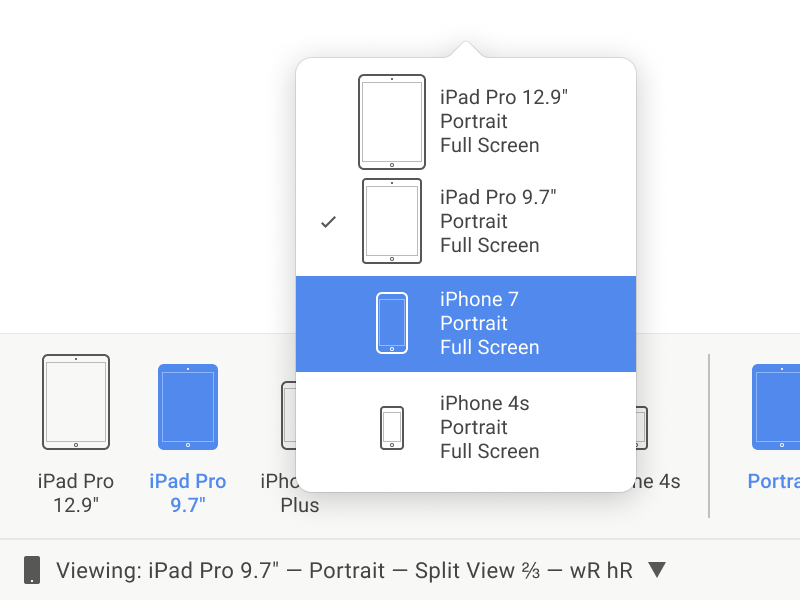 iOS Designer Varying Devices popover panel osx macos icon xamarin ios