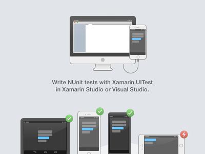 Xamarin Studio Test Cloud Integration, shaded icon gui illustration outline
