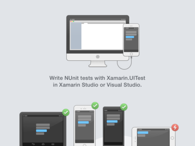 Xamarin Studio Test Cloud Integration, shaded icon gui illustration outline