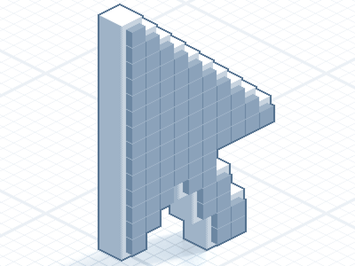Deploy Frontend arrow pointer cursor iso isometric pixelated pixel pixelart icon sprite