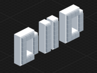 Deploy Or Die blocks logo sprite icon pixelart pixel pixelated isometric iso