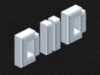 Deploy Or Die blocks logo sprite icon pixelart pixel pixelated isometric iso