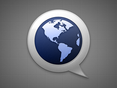 TotalTranslate icon app application gradient grayscale blue globe earth glow bevel shadow helveticons