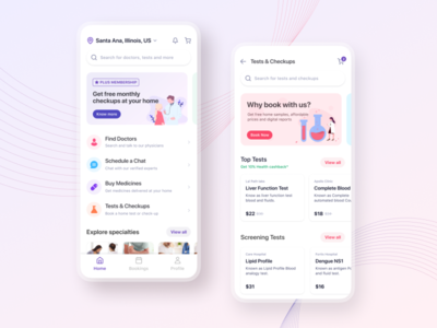 Healthcare Mobile App Design colors ux home schedule detail page category ios chat card mobile app app medical physician medicine consultation doctors healthcare
