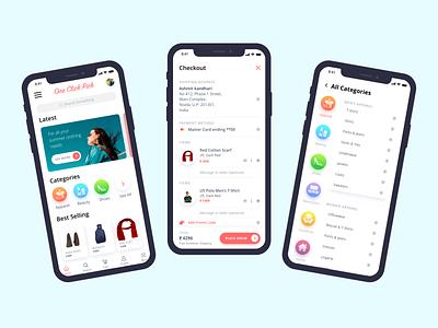 UI/UX Shopping App Design e commerce graphic design shopping app user interface illustration vector icon app branding app design ux ui