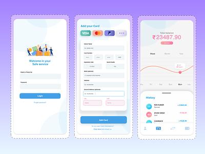 Sale Services App UI design vector cashback balance sheet debit credit cards app design graphic design adobe xd illustration service app sales service financial app finance branding ui