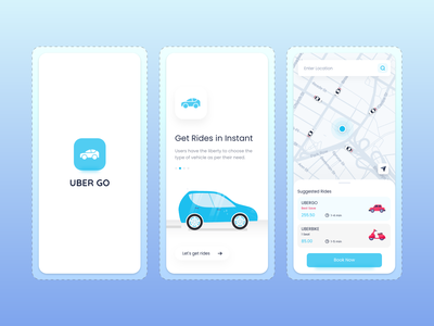 Uber Go Cab booking UI Design ride booking app destinations journey fingertips mobile taxi ride ride easy way booking dribbble adobe xd illustration logo design branding ui app design ui design taxi cab booking