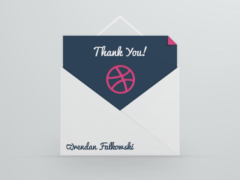Thank You Brendan thanks invitation envelope dribble