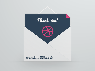 Thank You Brendan thanks invitation envelope dribble