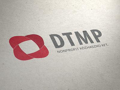 DTMP Logo emblem logo mockup brand identity
