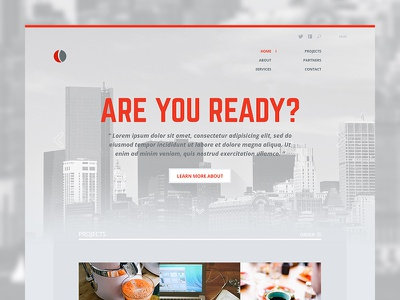 Corporate Website webdesign ui website corporate business design web layout clean red gray