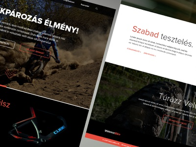 VelenceBike Website webdesign business clean corporate design layout web website parallax red black