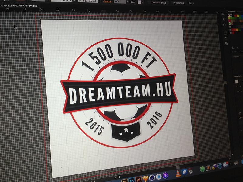 Dreamteam Logo blue red logotype brand badge logo emblem