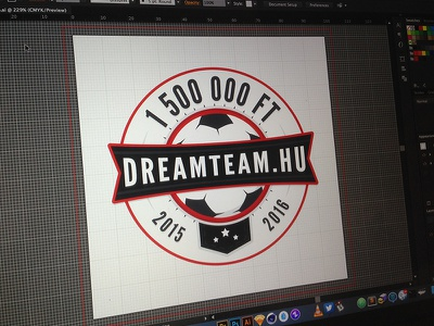 Dreamteam Logo blue red logotype brand badge logo emblem