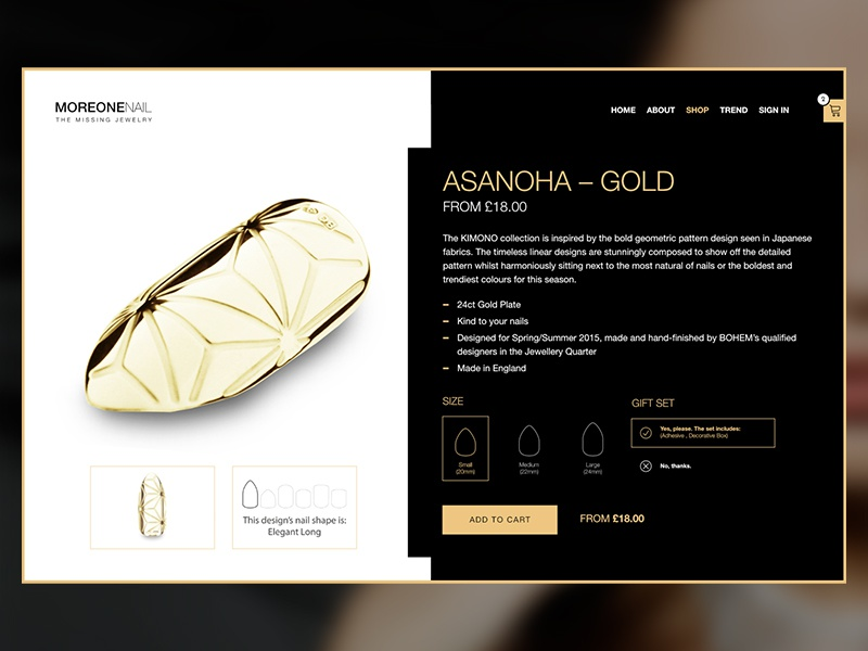Jewelry Shop Product Page nail luxury black gold product product page webshop shop jewelry