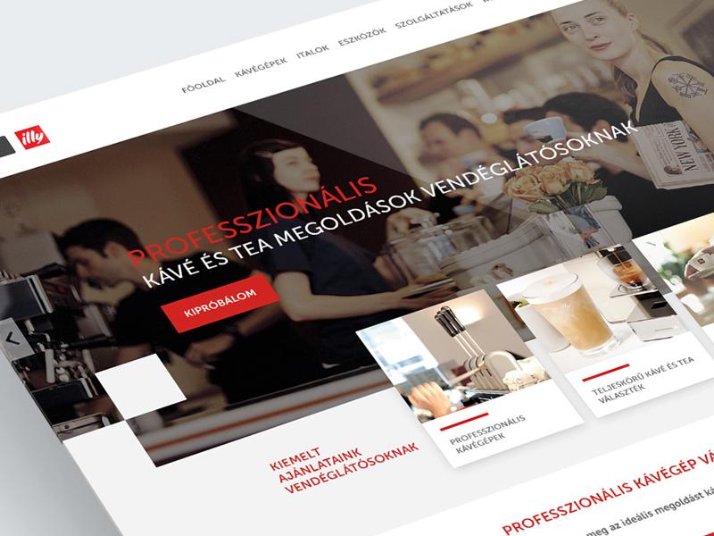 EspressoShop website parallax red coffee landing ui website webdesign