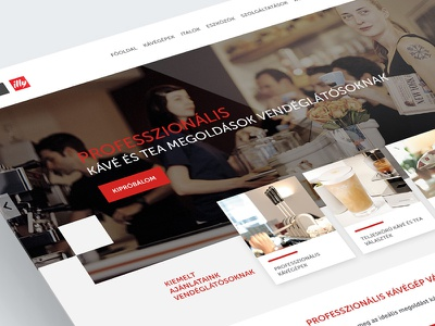 EspressoShop website parallax red coffee landing ui website webdesign