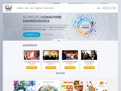 Fivosz orange blue website webdesign web ui sketch colorful