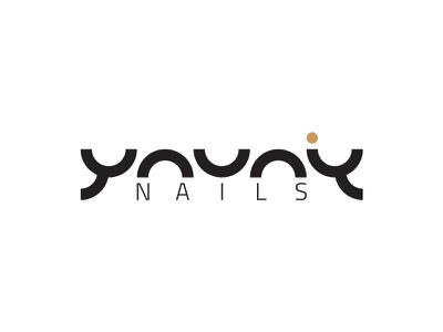 Youniq Nails Logo emblem gold black nail logo