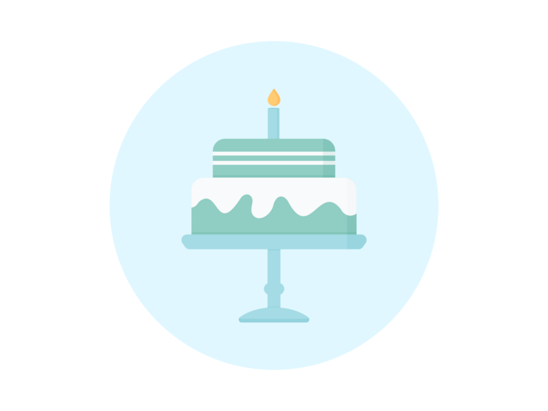 Day 128 - 366 Days Illustration Challenge - MintSwift sweets celebration candle stand white chocolate chocolate mint birthday cake birthday cake vector icon design digital illustration vector illustration flat illustration illustrator illustration mintswift flatdesign flat design