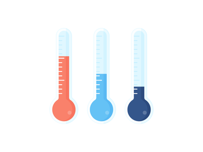 Day 322 - 366 Days Illustration Challenge - MintSwift icon design thermometers cold freezing warm hot weather thermometer temperature icon vector illustrations vector illustration digital illustration flat illustration illustrator mintswift flat design flatdesign illustration