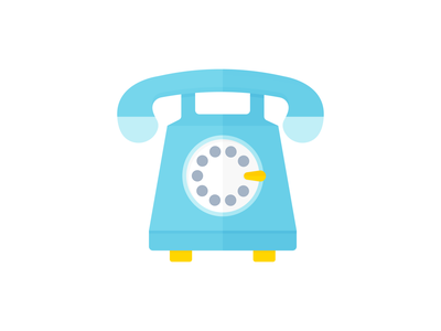 Day 323 - 366 Days Illustration Challenge - MintSwift rotary dial telecommunication comunication tech technology vintage phone call phone call telephone vector illustrations vector illustration digital illustration flat illustration illustrator mintswift flat design flatdesign illustration