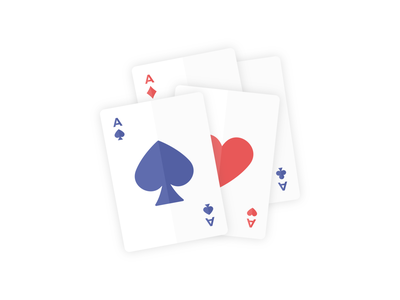Day 327 - 366 Days Illustration Challenge - MintSwift cards clubs diamonds card game playing cards spades hearts ace of hearts ace of spades ace vector illustrations vector illustration digital illustration flat illustration illustrator mintswift flat design flatdesign illustration