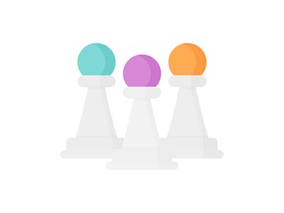 Day 334 - 366 Days Illustration Challenge - MintSwift game board games board game gambit chess pawn pawns chess piece chessboard chess pawn vector illustrations vector illustration digital illustration flat illustration illustrator mintswift flat design flatdesign illustration