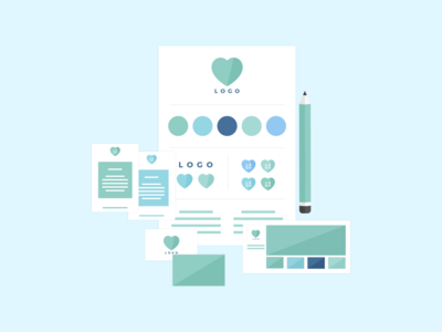 Brand Design Package - Illustrated Icon - MintSwift