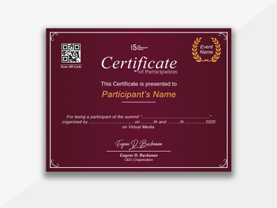 Design of Certificate for Participation - 15DDP hardwork hardskill softskill computer online income rizwangraph360 rizwangraph rizwanahmed facebookpage business socailmedia flyer food fiverr design graphic freelancing