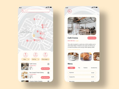 Airport Restaurant Finder finder restaurant food mobile app uidesign ui