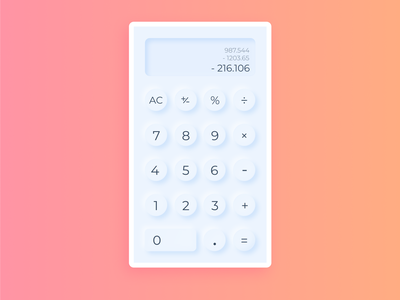 A Completely Useless Calculator figma light pastel softui neomorphic neomorphism calculator dailyuichallenge 004 dailyui