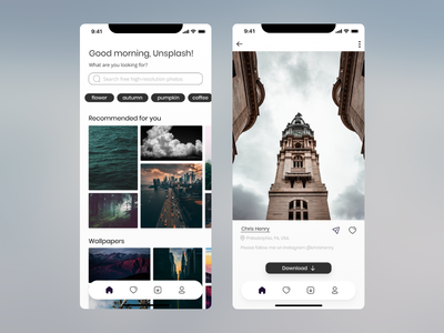 Daily UI #010 - Social share interface appdesign app unsplash 010 challenge illustration mobile figma dailyuichallenge dailyui
