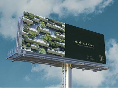 Sandton & Grey Brand Identity billboard design logo branding