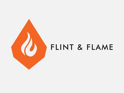 Flint & Flame ( Fire Logo ) combination mark symbol design design logodesign logo inspiration flint fire logo flame logo dailylogochallenge
