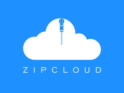 Zip Cloud ( Cloud Computing Logo )