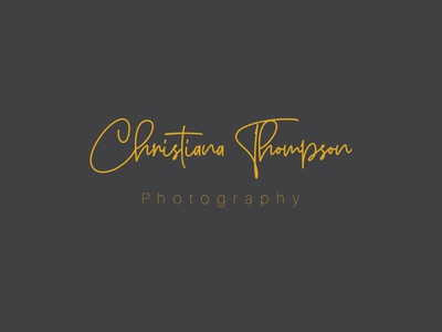 Christiana Thompson Photography ( Hand Lattering Logo )