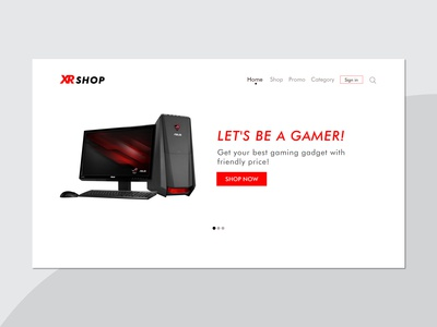 XR SHOP - Gaming WEB UI Design