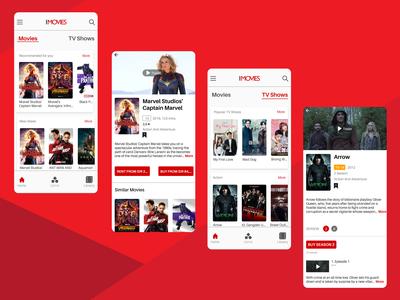 I Movies Mobile App UI