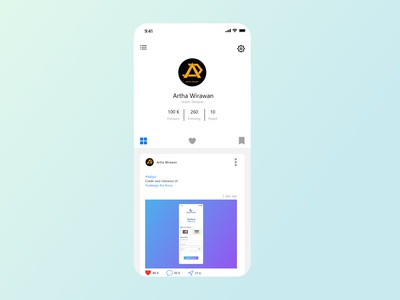 User Profile UI design