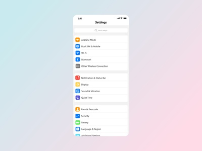 Settings Ui - Daily UI 007