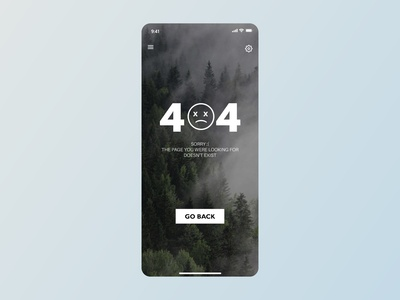 404 Not Found UI - Daily UI
