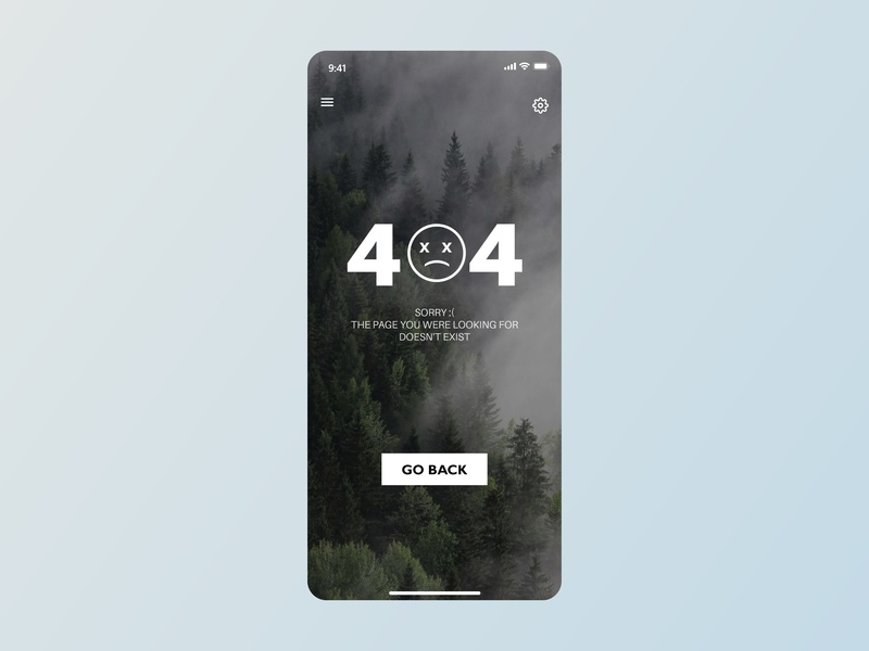 404 Not Found UI - Daily UI 404 page 404 daily ui mobile design uiux mobile ui mobile app design mobile app application app app design ui  ux uidesign ui design ui ui  ux design