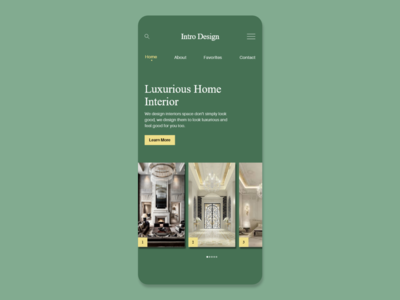 Intro Design - Interior Design Web UI