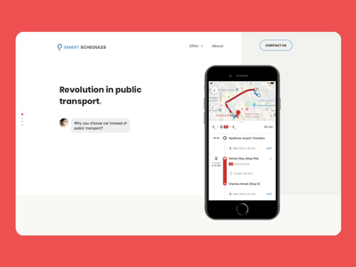 Smart Schedules — Homescreen interaction slider avatar modal iphone smartphone mockup map google maps google typography colorful design animation interaction prototype uiux ux ui website webdesign