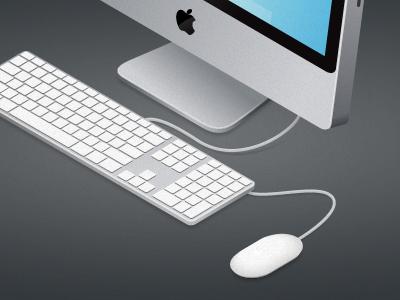 Isometric iMac mac computer imac isometric apple