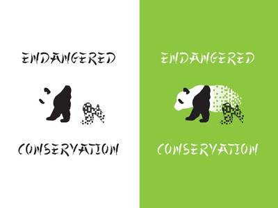 Endangered Panda Conservation: Daily Logo 03