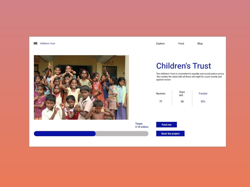 Daily UI 32 Crowdfunding Campaign xd daily ui daily 100 challenge ui design