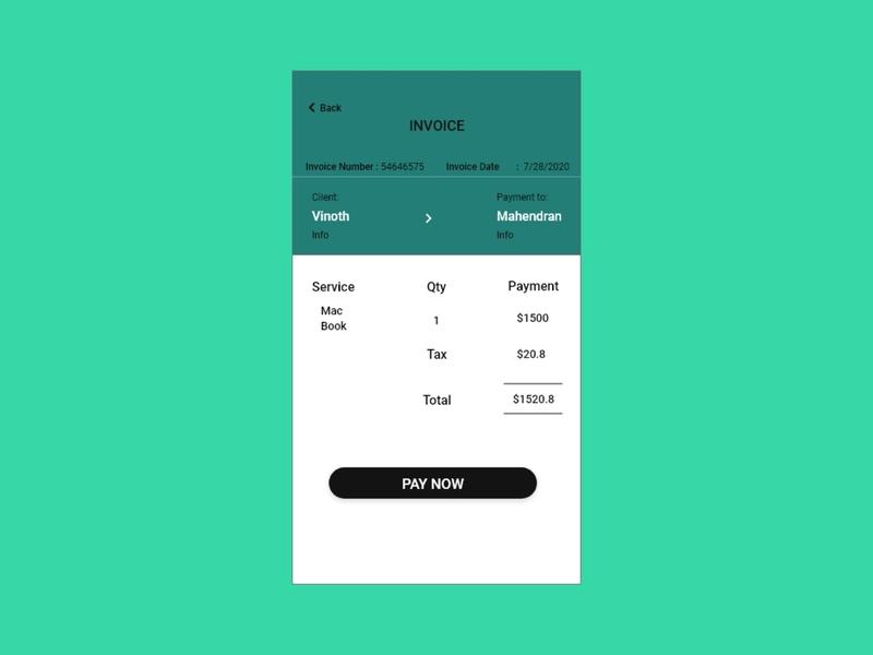 Daily UI 46 Invoice xd daily ui daily 100 challenge ui design