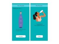 Water Reminder vector illustration app illustrator xd ui design